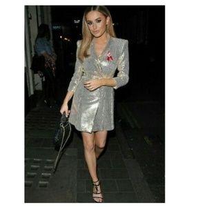 Zara shiny blazer dress (2726)